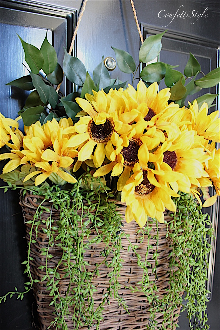 Sunflower Door Basket Confettistyle