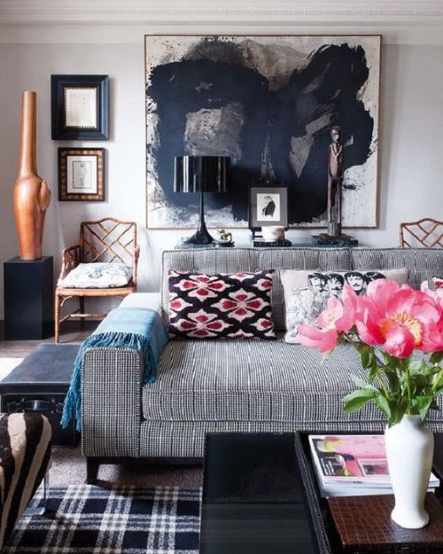 Black and Grey Room