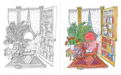 Color Me Clutterd Room--Coloring Books
