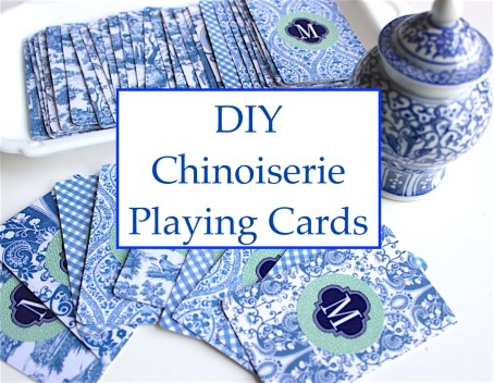DIY Chinoiserie Playing Cards