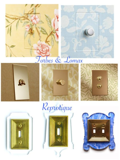 Design Detail Stylish Acrylic Amp Brass Switch Plate Covers