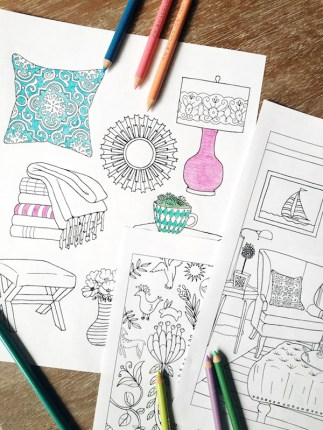 The Inspired Room Coloring Books