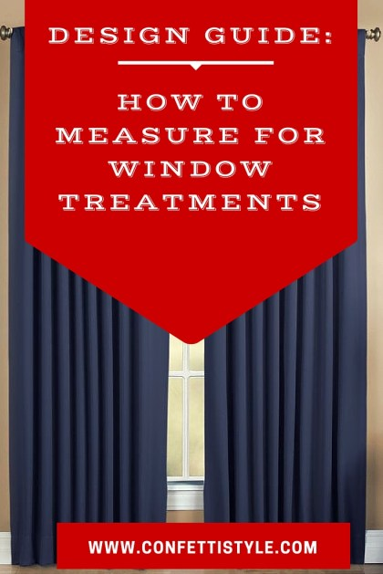 Design Guides--How to Measure For Window Treatments