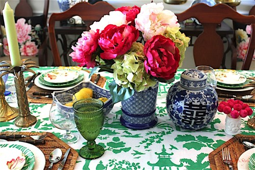 DIY Toile Tablecloth-6