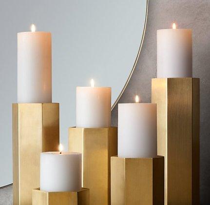 Kline Hexagonal Pillar Candleholder