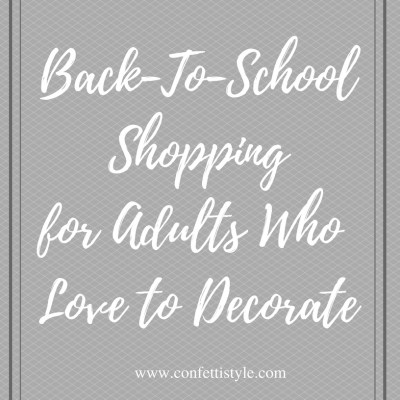 Back-To-School Shopping–The Adult Version