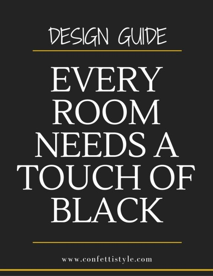Design Guides--Every Room Needs A Touch of Black