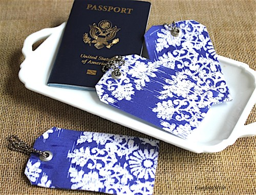 DIY Luggage Tags by ConfettiStyle