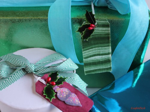 DIY Fabric Gift Tags by ConfettiStyle
