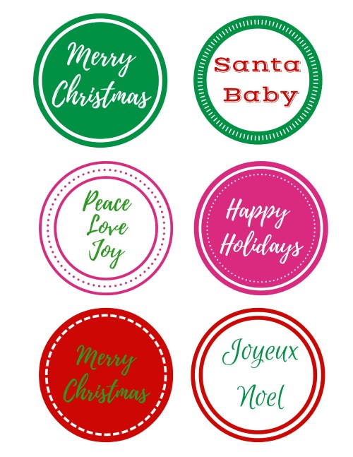 Merry & Bright Holiday Gift Tags