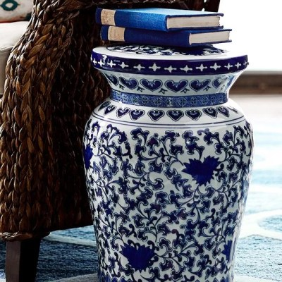 Product + Inspiration:  Blue & White Garden Stools