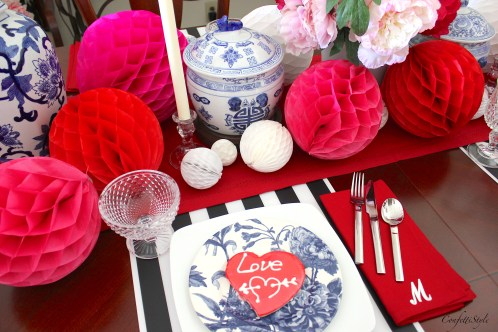 Valentine's Tablescape by ConfettiStyle