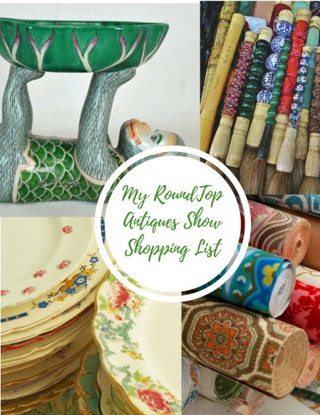 Round Top Antiques Market Shopping List by ConfettiStyle