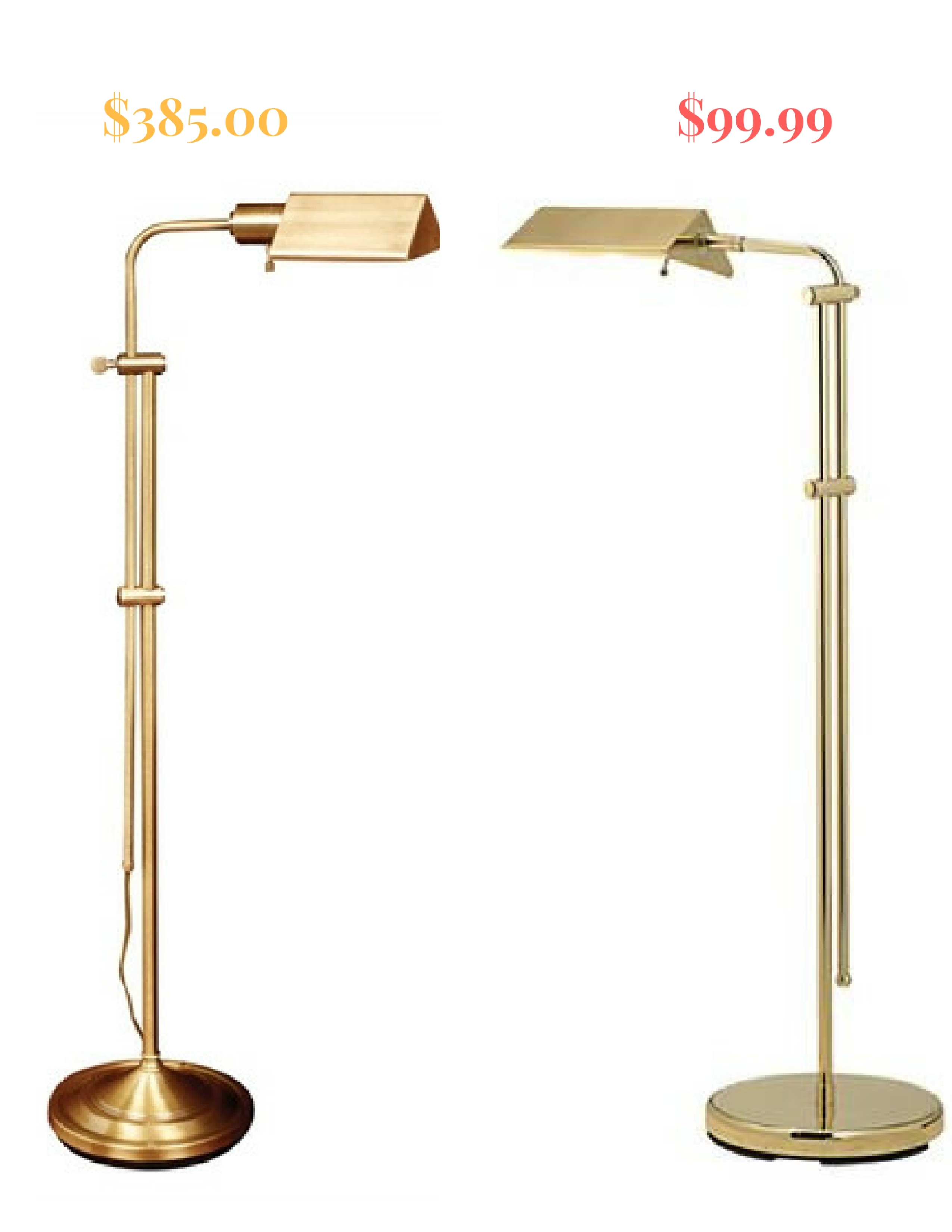 High Low Options Brass Pharmacy Lamps