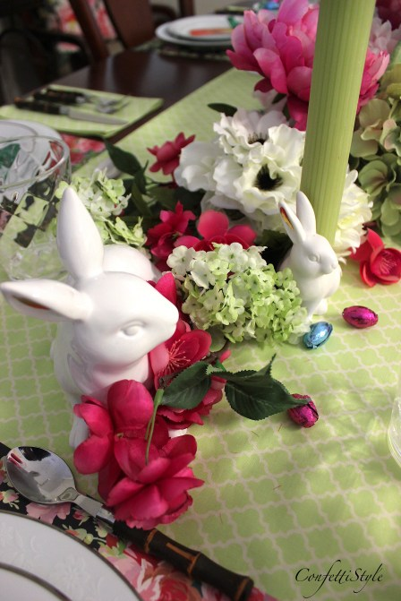 Spring Easter Tablescape by ConfettiStyle