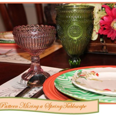Pattern Mixing a Spring Table Setting
