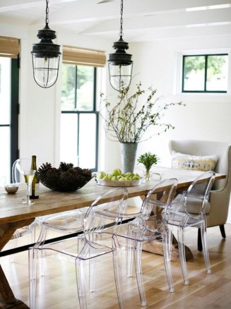 Contrasting King & Queen Dining Chairs