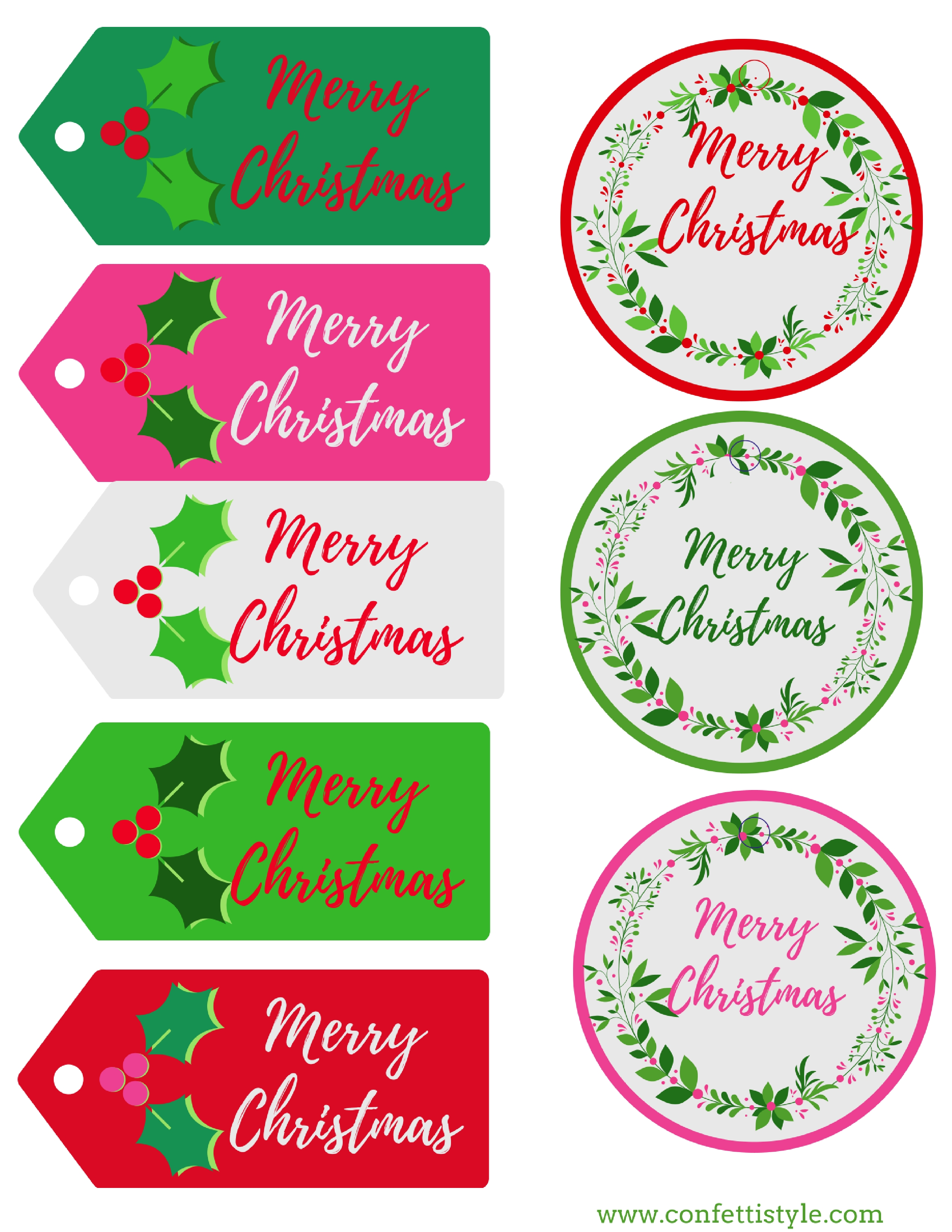 It's just a picture of Enterprising Merry Christmas Tags Printable