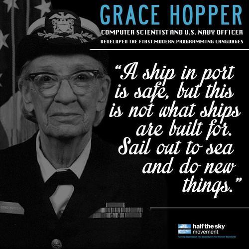 Um Navio está seguro em um porto mas não é para isso que os navios foram feitos. foram feitos para navegar pelos mares e fazer novas coisas.
