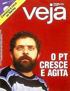 Capa Veja com foto de Lula O PT cresce e Agita, nos anos 80 antes das eleições diretas