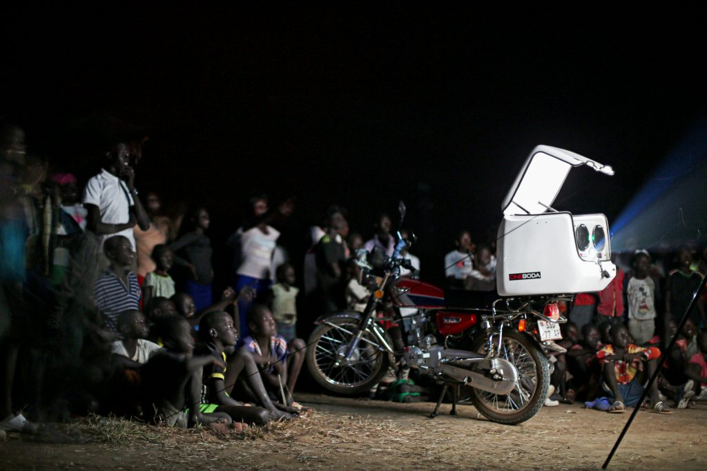 Cineboda Mobile Cinema Set Up in Action