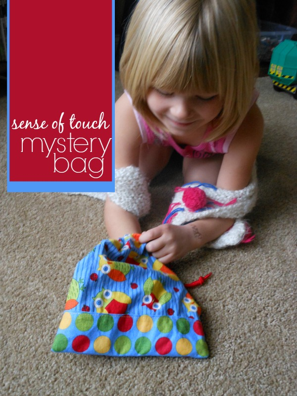 We love this mystery bag game for a lot of reasons. It's both quick to put together and easy to play. Plus it's fun and can be used in many different ways.