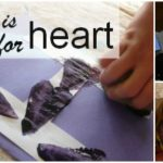 Letter H Activity: Potato Stamping Hearts