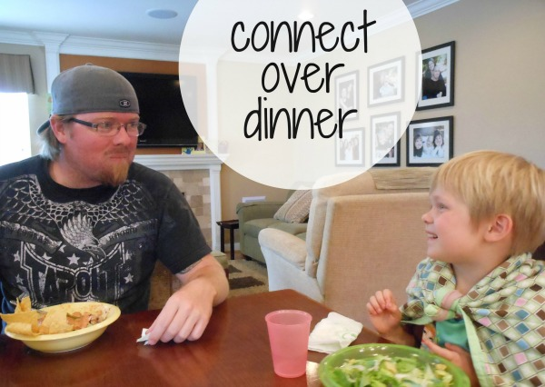 I seriously love this idea for family dinner table conversation! So simple