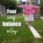 practicing BALANCE… four way relay