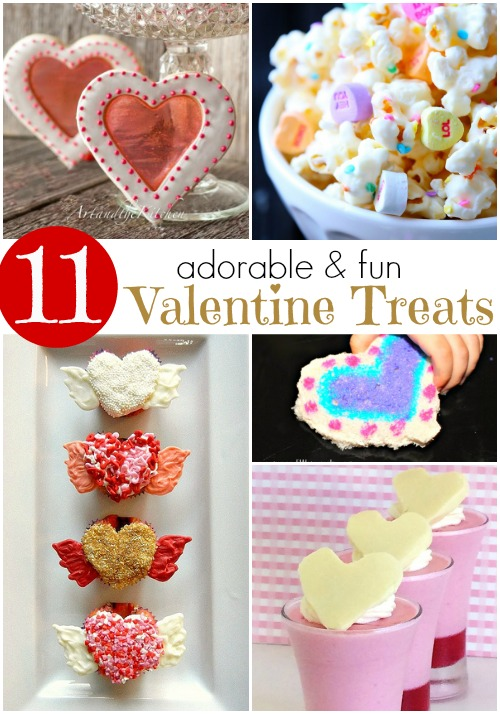 11 adorable and fun Valentine treats. love this list!