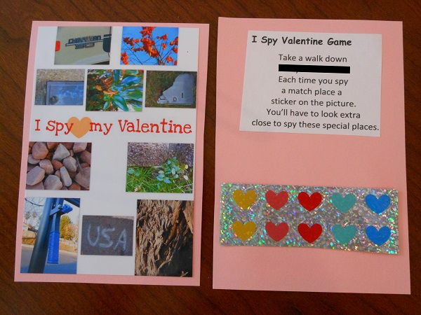 homemade Valentine card for kids - awesome idea for the neighborhood kids