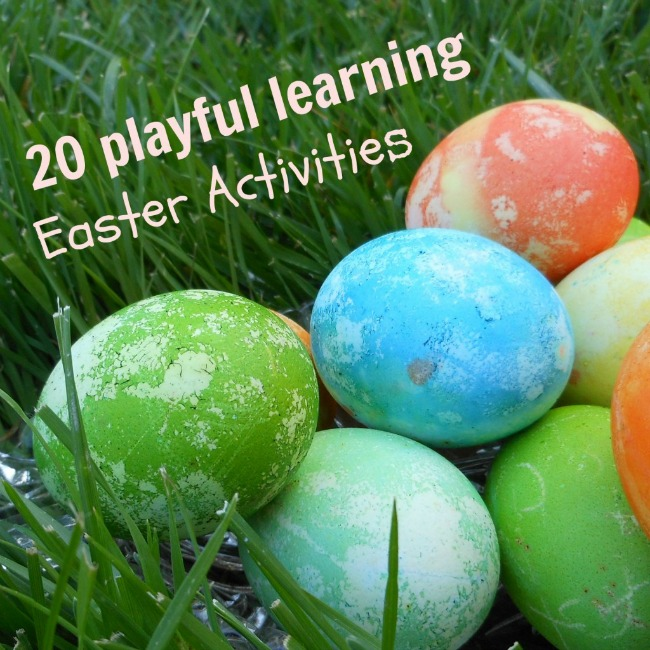 Easter activities for kids - art, math, science, movement, reading, sensory