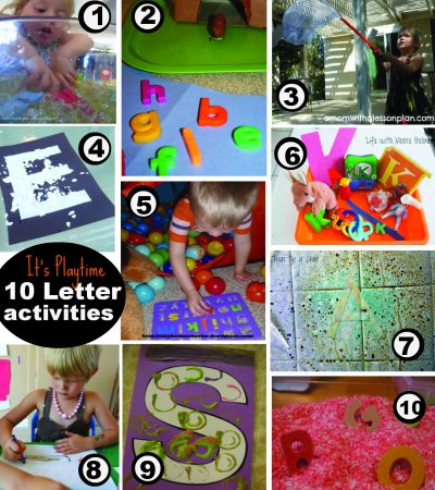 it's playtime letter activities