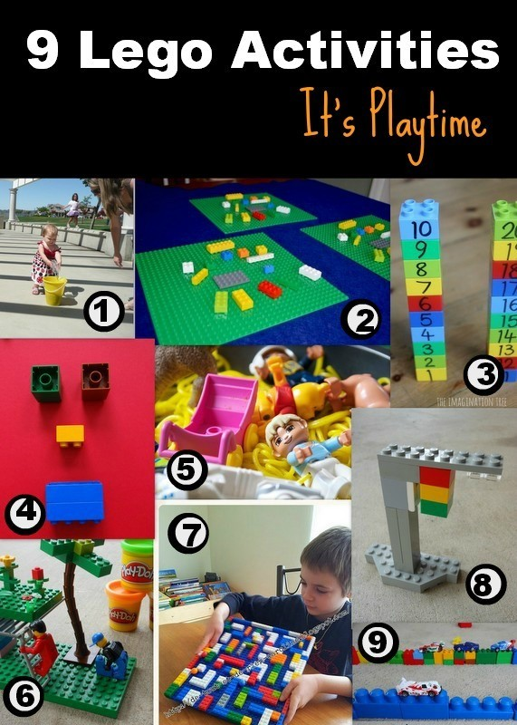 Lego Activities on It's Playtime