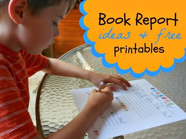 Great idea! Printable book report template for kids... free printables.