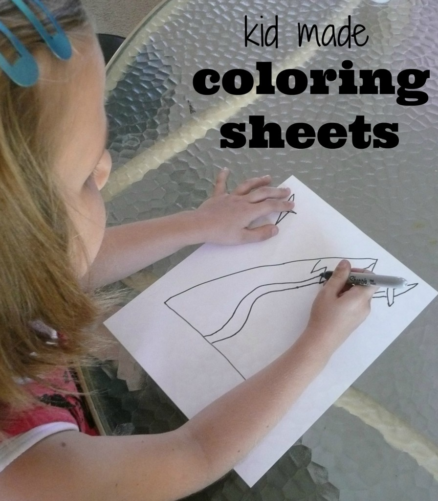 Kid made coloring sheets. smart!