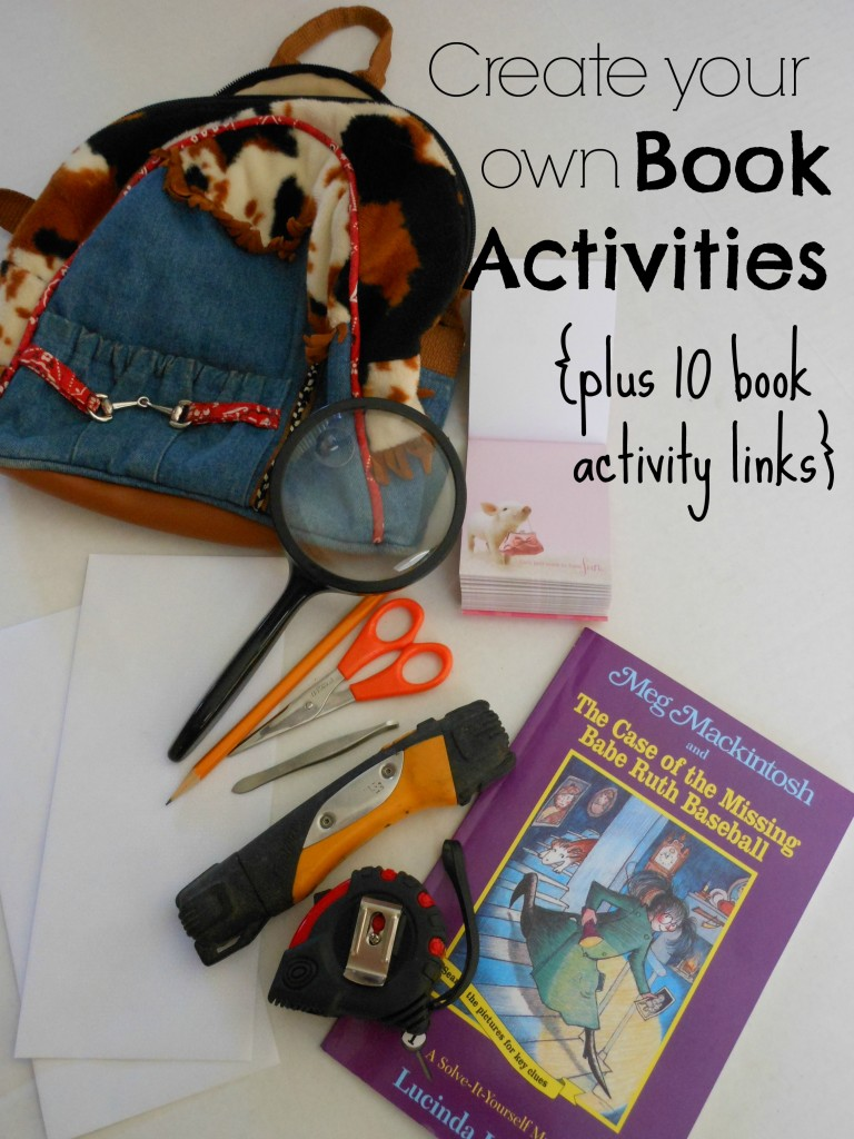 Yes! Easy ways to come up with my own book activities