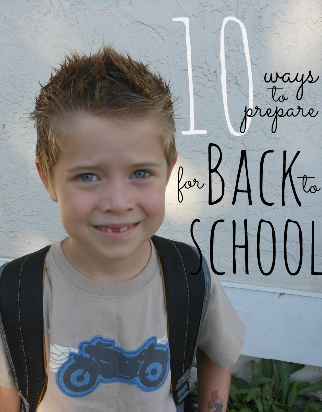love these ideas for how to get ready for the first day of school