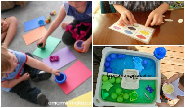 Learning colors through play -- includes art, color matching and even science.