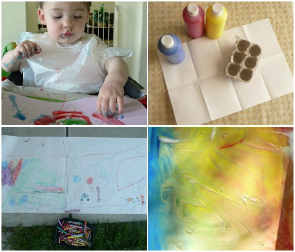 Learn colors through play-- includes art, color matching and even science.