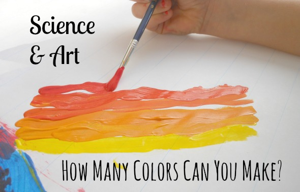 Science experiment for kids - mixing colors (great for the bigger kids)