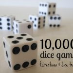 10,000 Dice Game Rules and Dice Tray