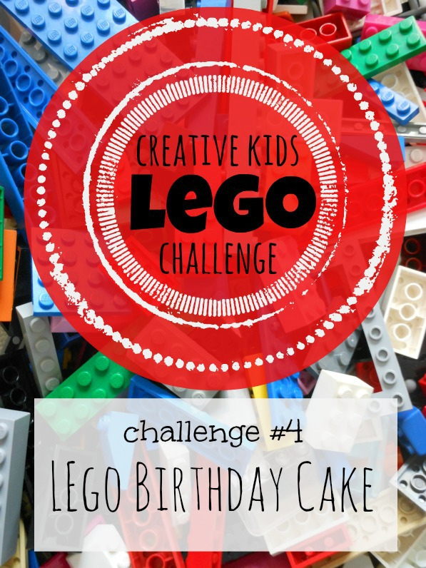 Creative Kids Lego Challenge -- Build a Lego Birthday Cake -- new challenge every week!