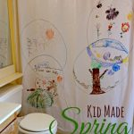 Keepsake Spring Drawing for Kids on a Shower Curtain
