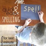 Quick and Easy Spelling Word Activity (For Last Minute Practice)