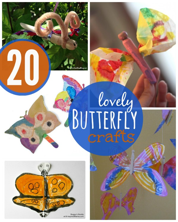 Butterfly crafts for kids - some really unique ideas in this list!