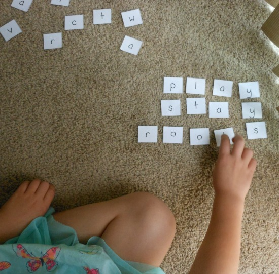 Spelling word practice with a spelling race