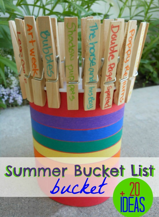 Summer bucket list ideas plus a super cute DIY summer bucket list BUCKET! So fun!