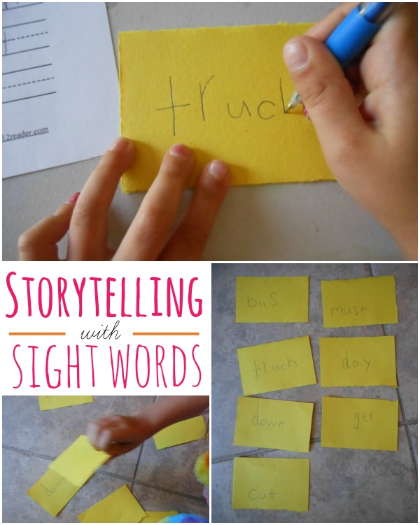 teaching sight words with storytelling. what a great idea!