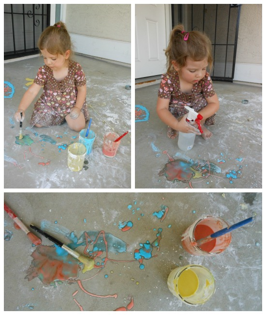 baking soda and vinegar... awesome way to play with baking soda